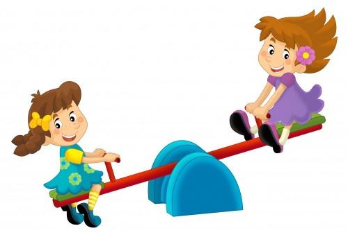 kreskowki-dziecko-na-boisko-zabawce-ilustracja-dla-dzieci-odosobniona-