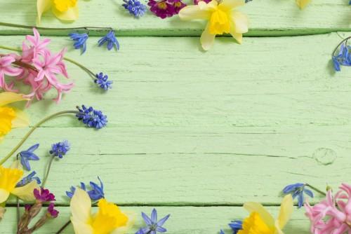 kwiaty-na-zielonym-tle-drewnianych