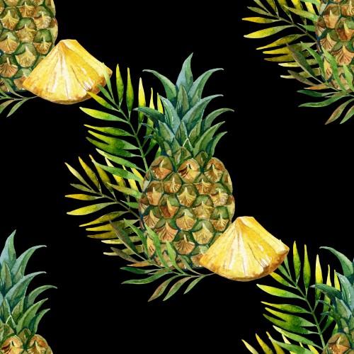 akwarela-ananasowy-wzor