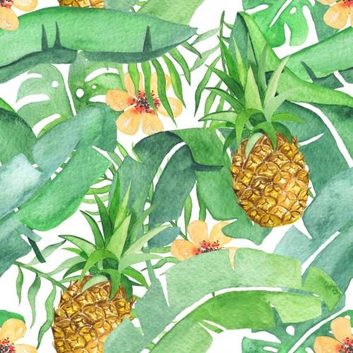 tropikalny-lisci-i-ananasowy-wzor-saemless