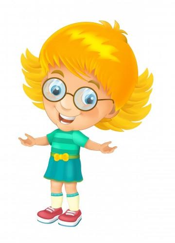 dziecko-kreskowka-na-bialym-tle-ilustracja-dla-dzieci