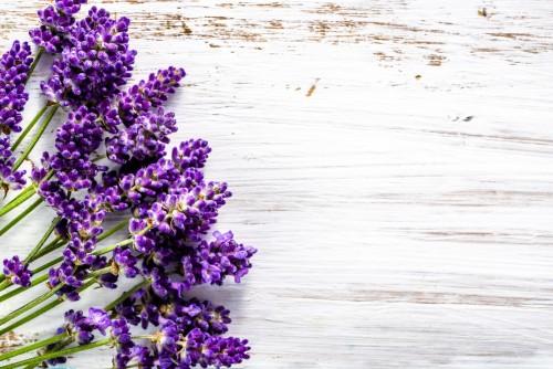 swiezi-kwiaty-lawendowy-bukiet-odgorny-widok-na-bialym-drewnianym-tle