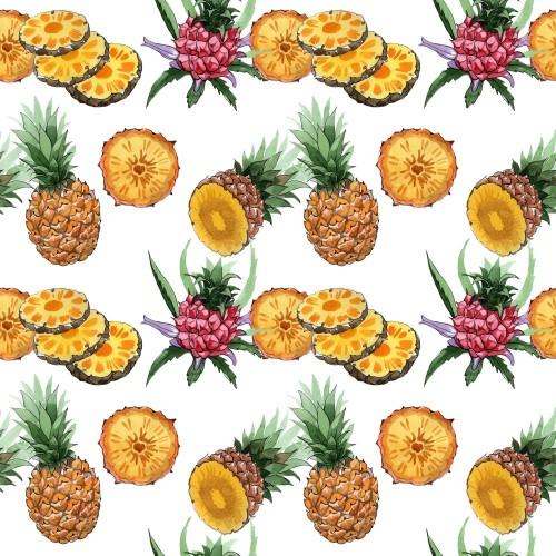 egzotyczny-ananas-zdrowy-jedzenie-wzor-w-stylu-przypominajacym-akwarele-pelna-nazwa-owocu-ananas-dziki-owoc-aquarelle-w-tle
