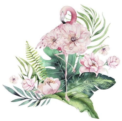 recznie-rysowane-akwarela-tropikalnych-ptakow-zestaw-czerwonak-z-lisci-ilustracje-egzotycznych-ptakow-rozanych-lisc-drzewa-dzungli