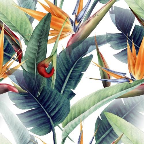bezszwowy-kwiecisty-wzor-z-tropikalnymi-liscmi-i-strelitzia-na-lekkim-tle-projektowanie-szablonow-dla-tekstyliow-wnetrz-ubran-tapet