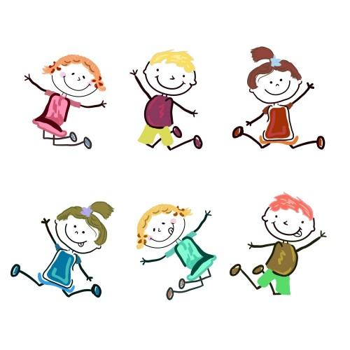 ilustracje-przedstawiajace-cieszace-sie-dzieci