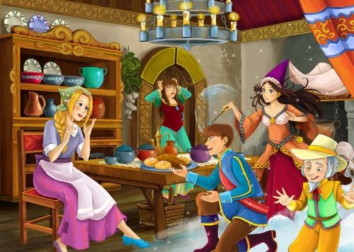 scena-z-bajki-kreskowka-kolorowanki-ilustracja-dla-dzieci