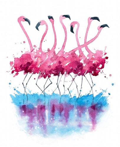 akwarela-z-grupa-flamingow
