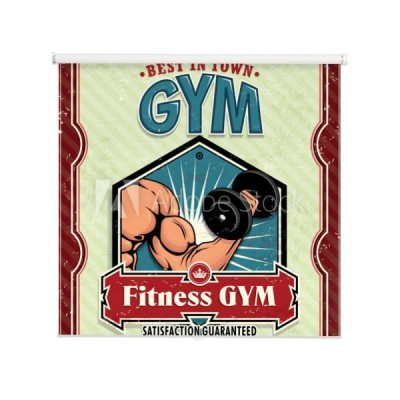 plakat-vintage-fitness-club