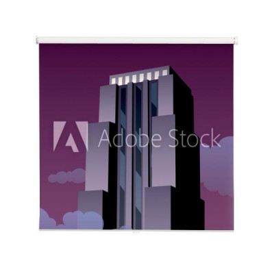 art-deco-tower-cartoon-wiezowiec-noca-w-stylu-art-deco