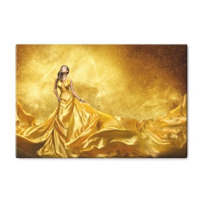 gold-fashion-model-dress-woman-golden-silk-gown-flowing-fabric
