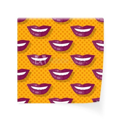 seamless-pattern-smiling-lips-zeby-na-polka-dot