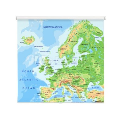 Fotoroleta Kolorowa Mapa Europy Rewallution Pl